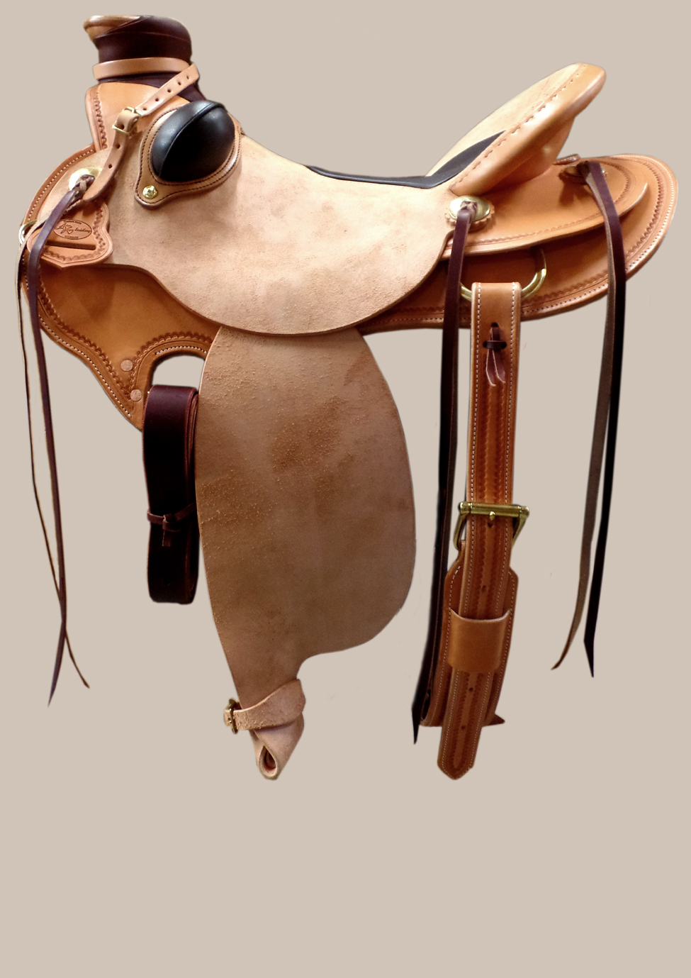 Buckaroo Oldtimer mit Wade Fork und Inlay Seat, rough out